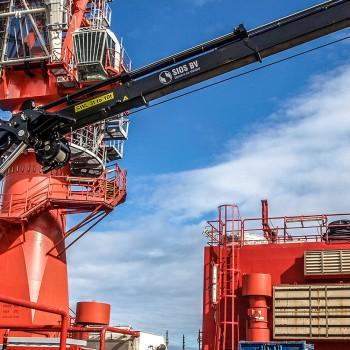 Ship crane Norway